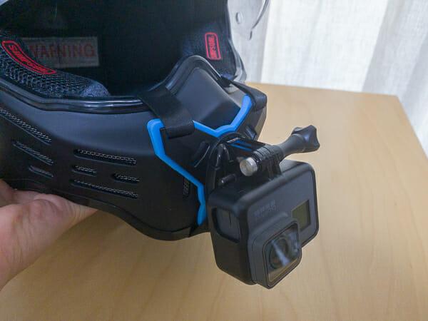 TELESIN ヘルメットマウントでGoProを顎マウント