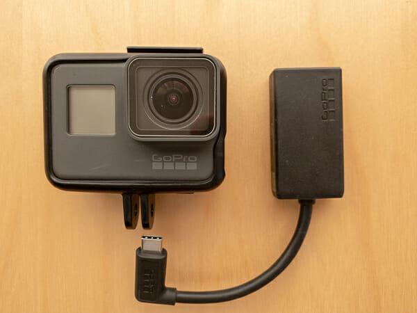 GoProとマイクアダプター