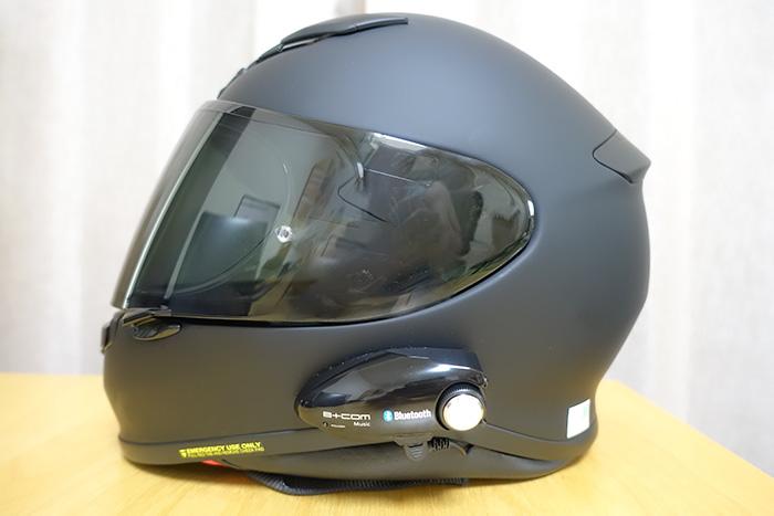 SHOEI Z-7ヘルメットにB+COM MUSICを装着