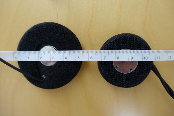 B+COM Musicの標準スピーカーとNEO. B+COMスピーカーの大きさ比較