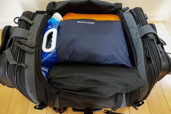 キャンピングシートバッグ2に道具全てを入れてもまだ余裕あり