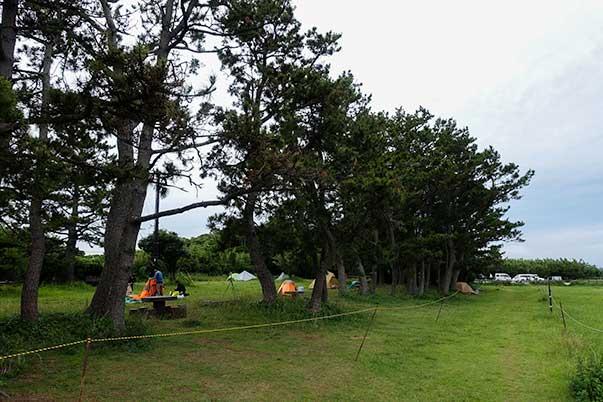 潮岬キャンプ場の無料期間スペース
