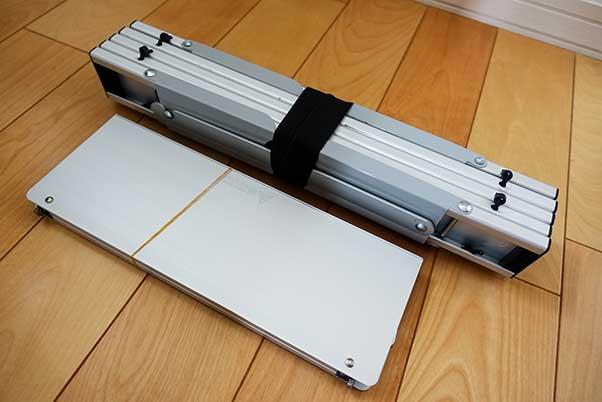 キャプテンスタッグとポップアップソロテーブル フィールドホッパーのサイズ比較(収納時)