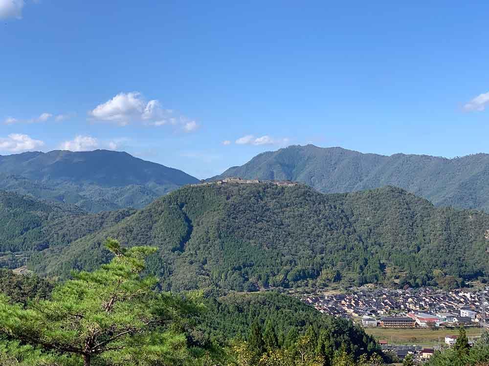 立雲峡にて竹田城跡を外からチラ見