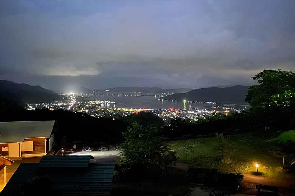 大内峠一字観公園から天橋立の夜景